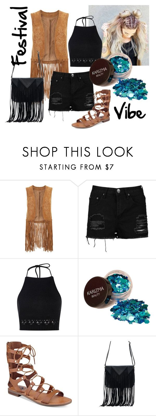 Let the Festival season begin by patsilvarte-blog on Polyvore featuring Boohoo, Monsoon, G by Guess and WithChic  #festival #ootd #outfit #fringe #coachella
