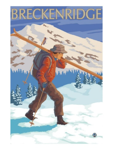 17 Best Images About Vintage Breckenridge Posters On