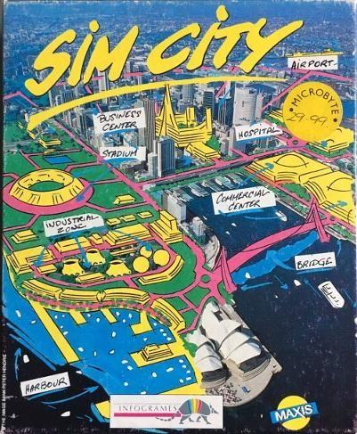 Sim City boxed game Commodore Amiga