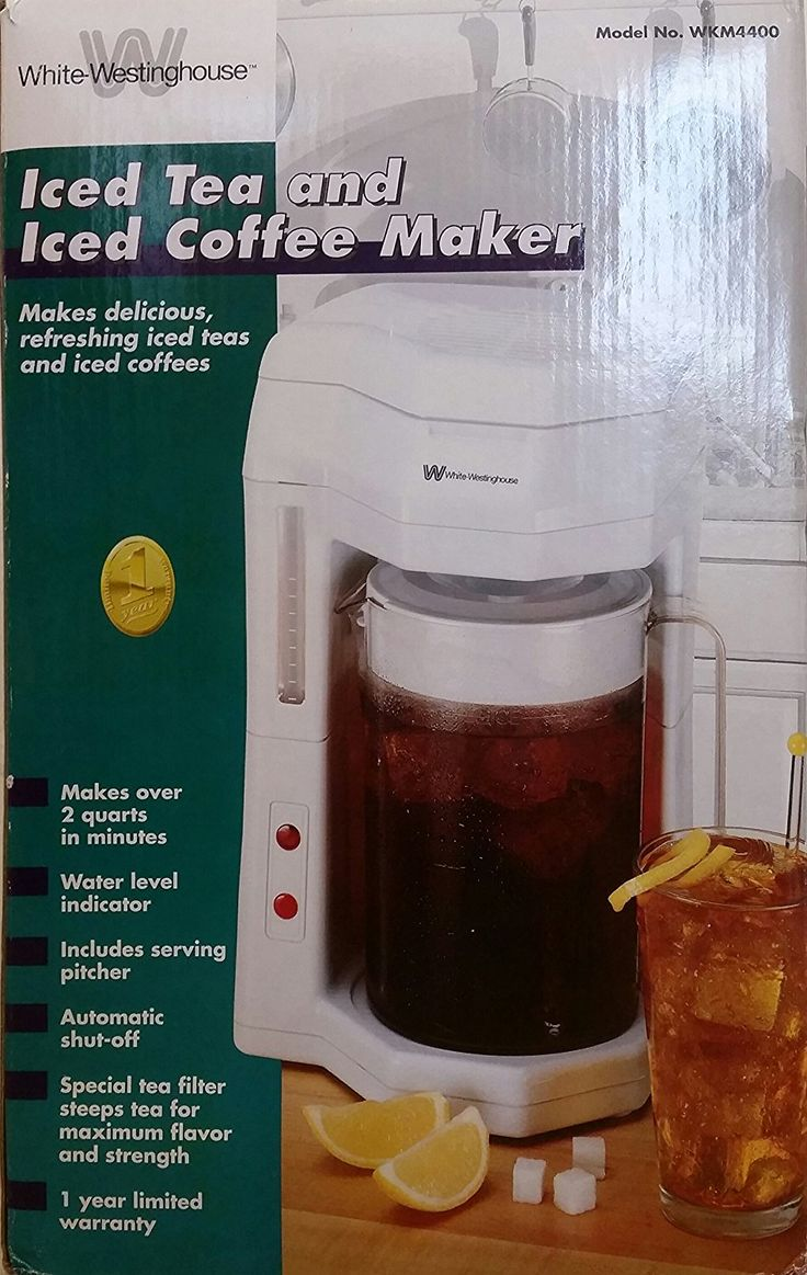 WhiteWestinghouse Iced Tea and Coffee Maker This is an