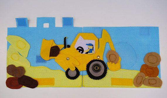 Backhoe Loader / Shovel / Travel Toy for Toddlers / Gift for