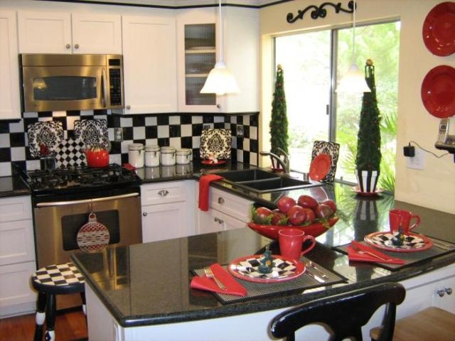 115 best Red kitchen ideas images on Pinterest Room decorating - kitchen decoration ideas