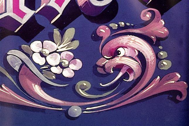 El dragón, las flores y las colas de ratón, los símbolos del filete porteño. Foto: Archivo /Nicolás Rubió