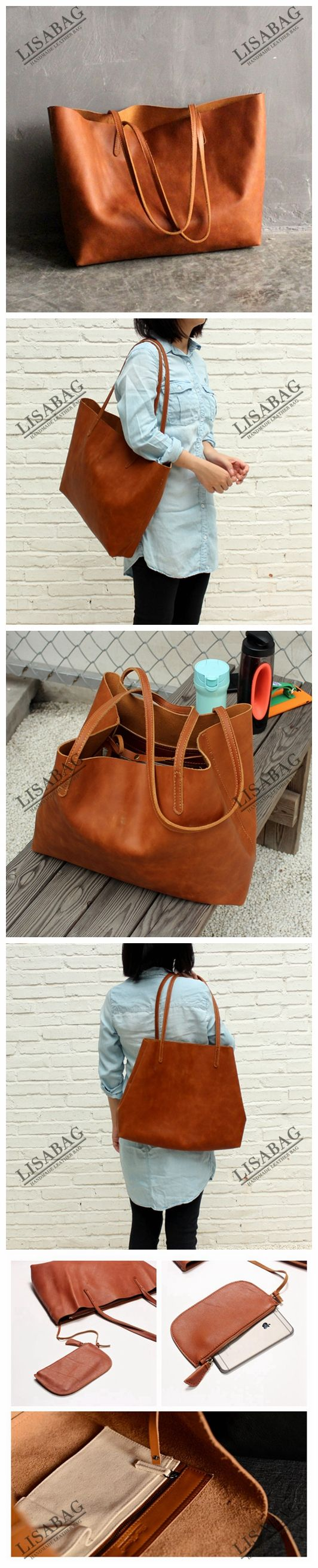 Handmade Women's Fashion Leather Tote Bag Shoulder Bag Shopper Bag ZB01--LISABAG