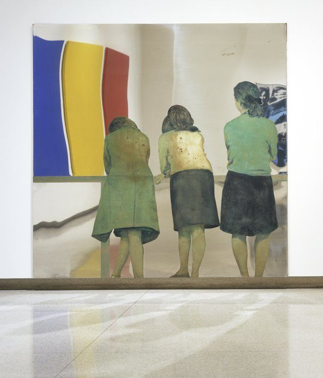 Tre ragazze alla balconata (Three Girls on a Balcony), Michelangelo Pistoletto arte povera
