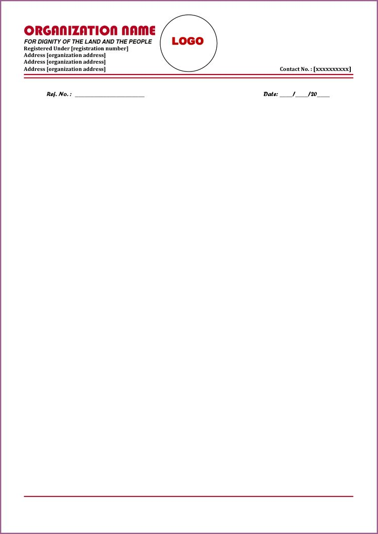 letterhead format designproposalexample sample business
