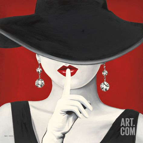 Haute Chapeau Rouge I Art Print by Marco Fabiano at Art.com