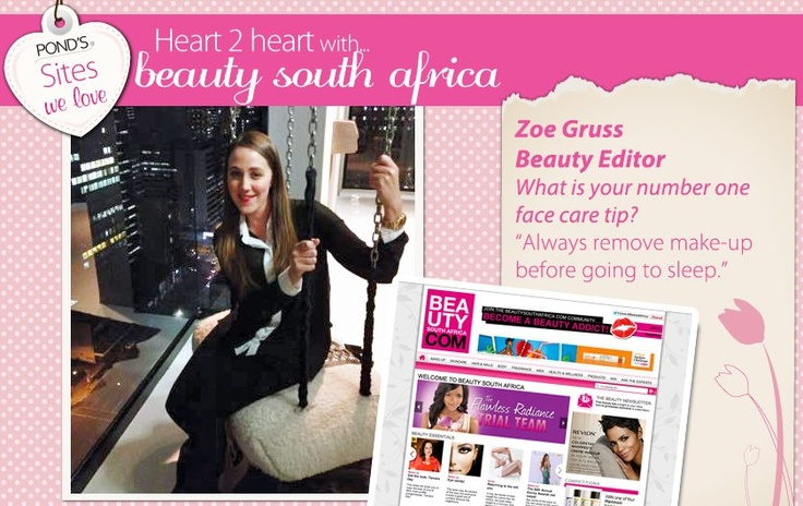 We asked Zoe - beautysouthafrica.com about her number 1 face care tip.