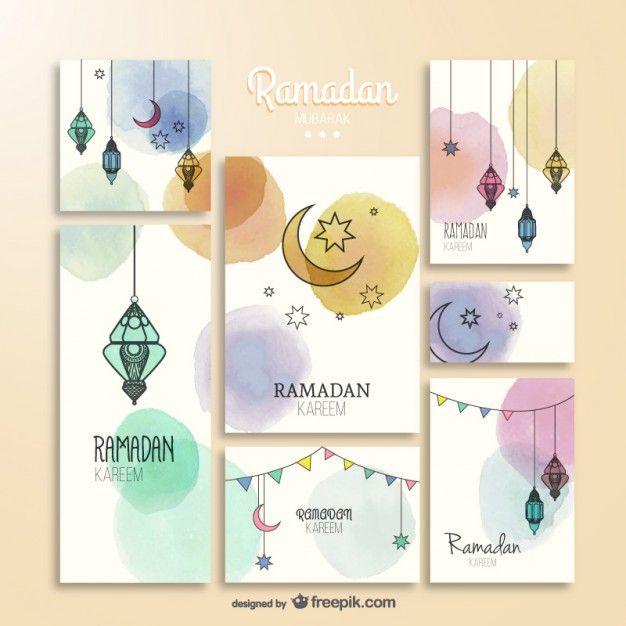 Watercolor Ramadam Kareem brochures