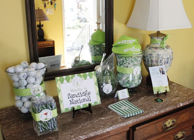Golf party:  ChickabugFirst Birthday Parties, Golf Party, 1St Birthday, Golf Parties, First Birthdays, Golf Boards, Parties Theme, Golf Tournament, Birthday Ideas