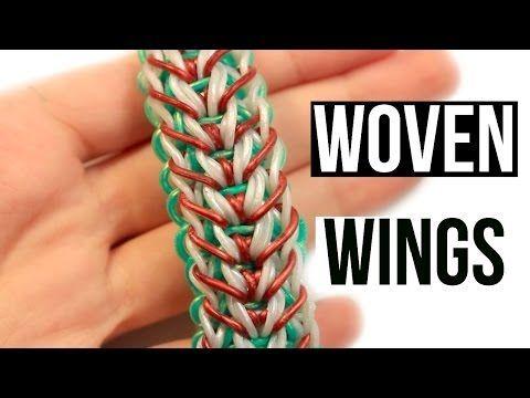 Tendance Bracelets  Rainbow Loom Woven Wings Bracelet | One Loom Tutorial