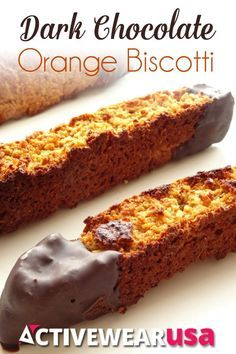 Dark Chocolate Orange Biscotti Recipe - it's vegan, gluten-free and tastes amazing! Seriously, these cookies are so good you'll never know they're healthy!