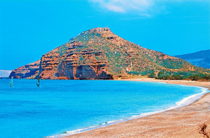 """KOUREMENOS beach"", near the village of PALEKASTRO , SITIA Municipality - Eastern Crete ."