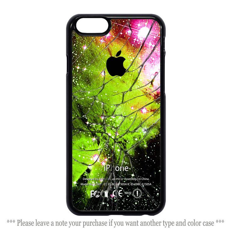 Green Light Galaxy Nebula Cracked Glass Cover iPhone 4 4s 5 5s 5c 6 6 plus Case #UnbrandedGeneric