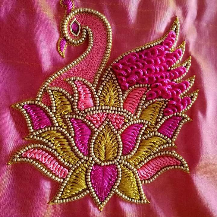 1000+ Images About Embroidery N Aari Work On Pinterest | Hand Embroidery Blouse Designs And ...