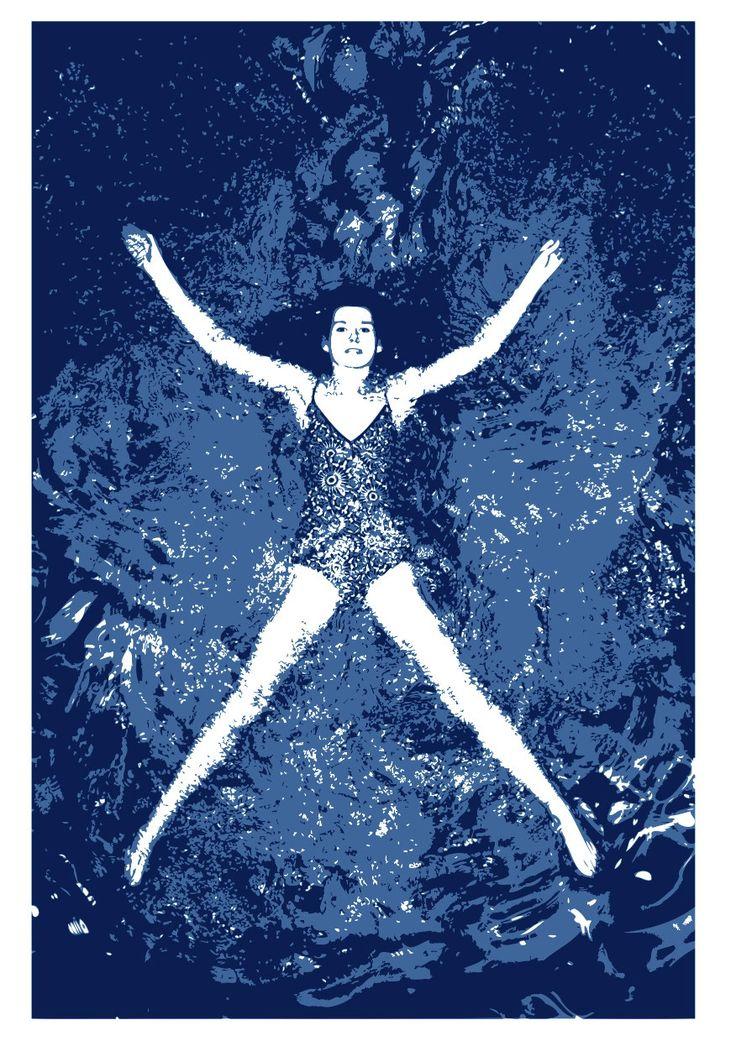 Floating by Angela Mellen Silkscreen