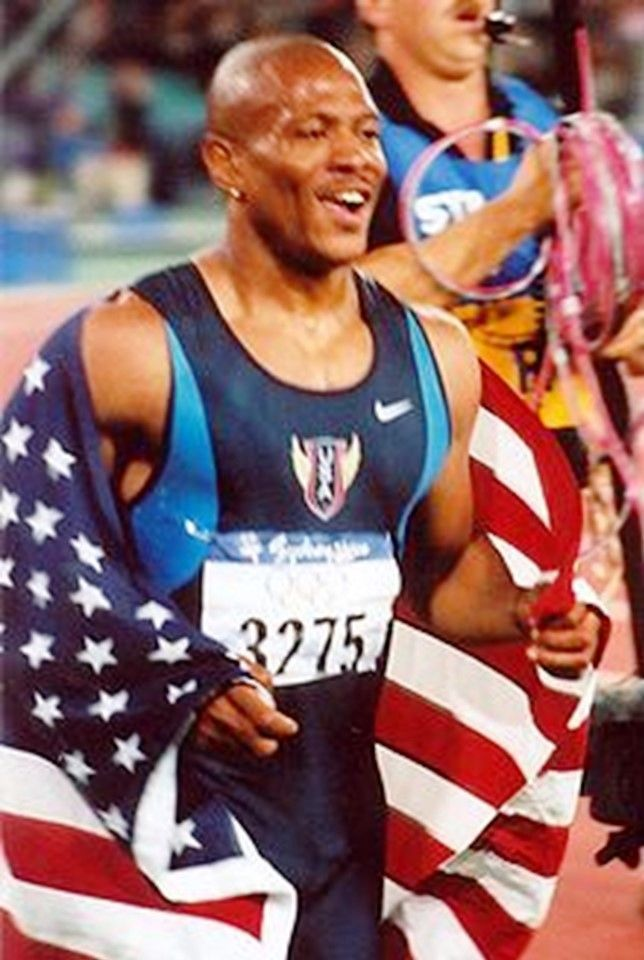Maurice Greene, USA, won the 100 metres sprint at the 2000 Olympics