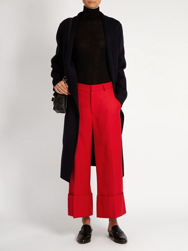 High-rise wide-leg wool trousers | Sea | MATCHESFASHION.COM