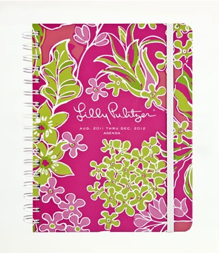 2012 Large Lily Pulitzer agenda.  Organize your life and, enjoy every minute with this DARLING calendar!