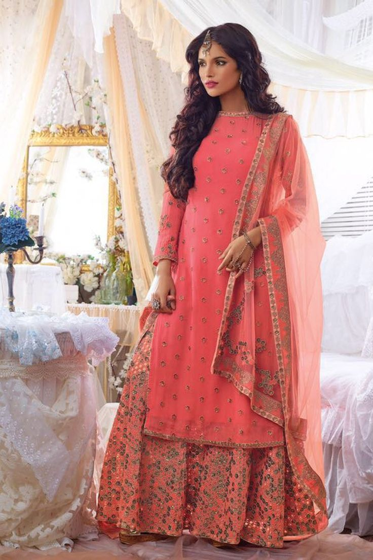 11 best latest pakistani sharara suits 2017 images on for Sharara dress for wedding online shopping
