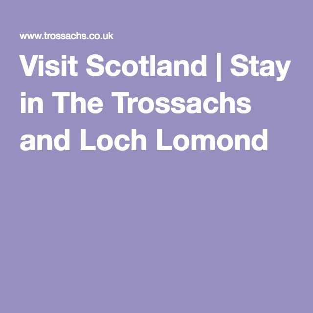 Loch Lomond and The Trossachs official website