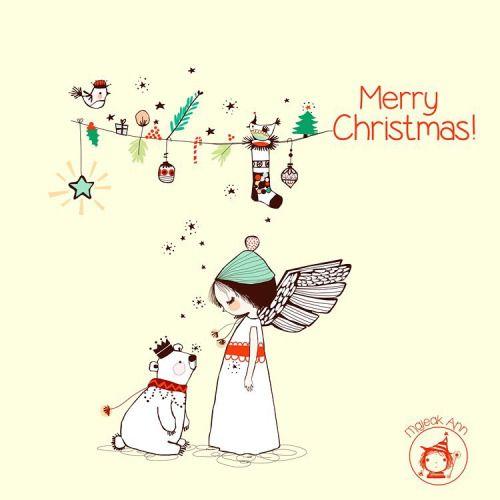 Majeak Ann Christmas ilustration