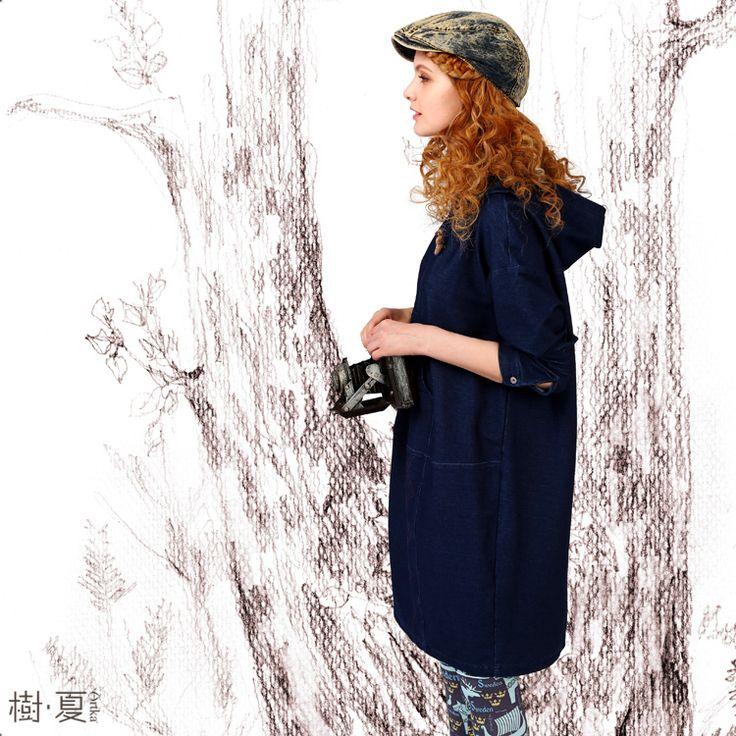 Темно-синие платье спортивного кроя из джинсовой ткани, 525692151893 купить за…