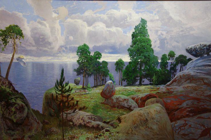 """Эту картину """"На просторах Гипербореи"""" я писал на Кольском полуострове"""