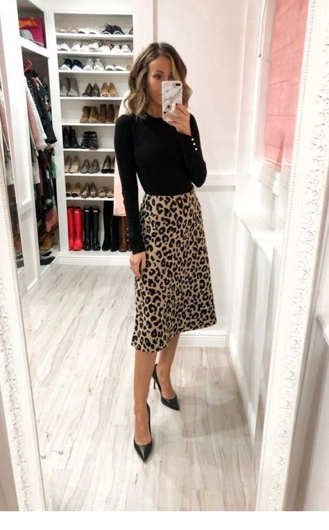 Nice black blouse and leo skirt 2