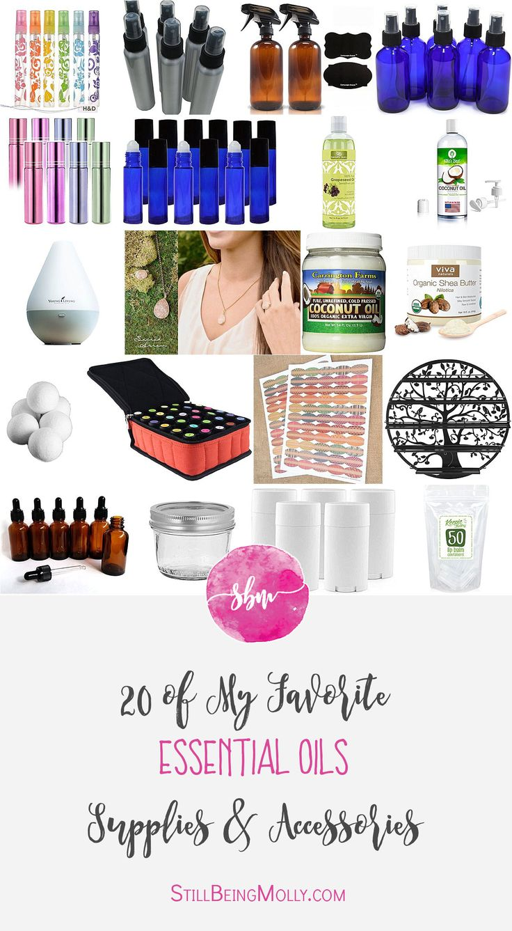 """Y'all are well aware by now of how much I love making a lot of my own DIY home, health, beauty, baby, and beauty products with my essential oils! I have a TON of recipes on this blog already and Lord knows I will continue to share more as I try things out and tweak recipes. BUT, one of the most common questions I get when readers email me and ask about starting to use oils and DIY their own products is, """"Well, what accessories and supplies do I need to get started using oils and making…"""