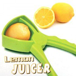 $4.00 Plastic Hand Operated Lemon Juicer Lime Squeezer (Green)