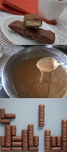 Шоколадка твикс - рецепт с фото