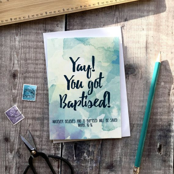 Baptism card  Yay You Got Baptised  Card for Him  Card for