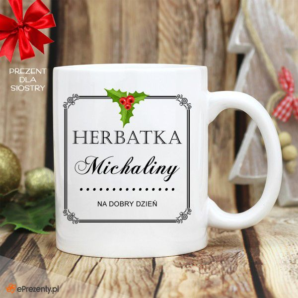 Kubek HERBATKA na DOBRY DZIEŃ Dostępny tutaj: https://eprezenty.pl/source/524/114032/