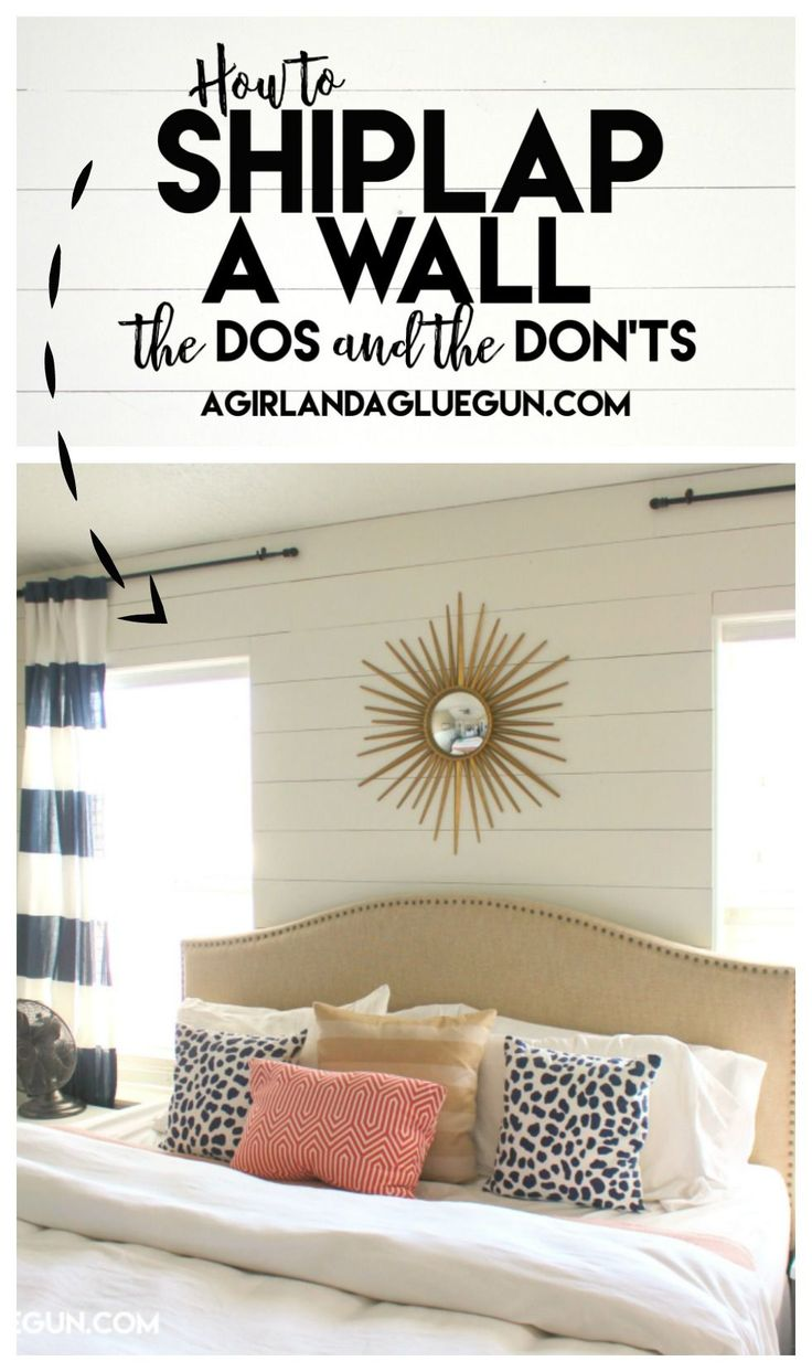 How to shiplap a wall-the Do's and DON'Ts