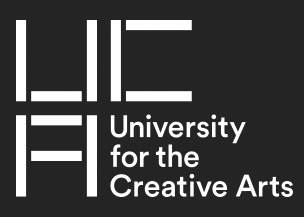 UCA Creative Arts flexible degree, containing fine art, textiles, and creative writing
