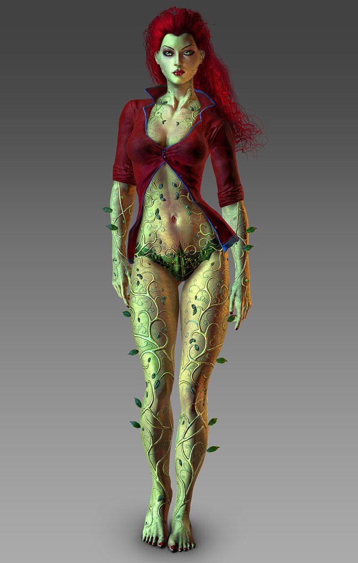Poison Ivy Render - Characters & Art - Batman: Arkham Asylum