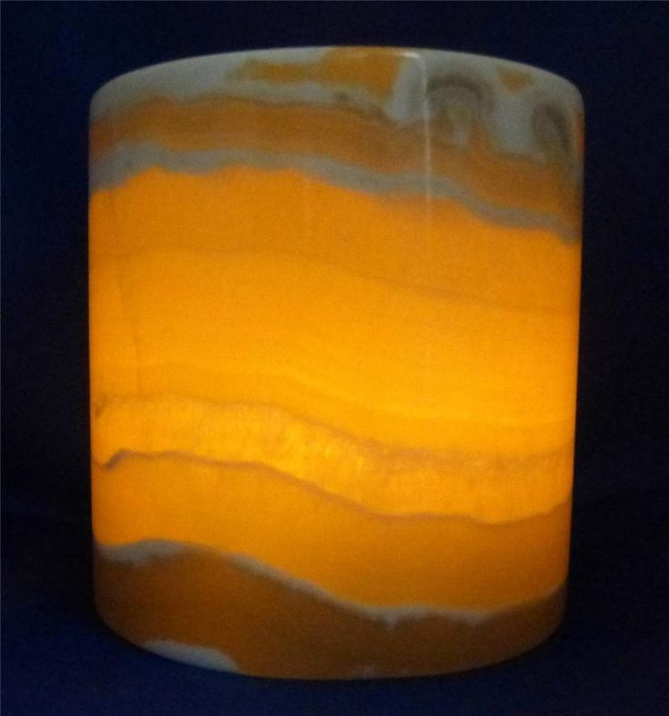 Egyptian Alabaster Candle Holder C Translucent Marble New