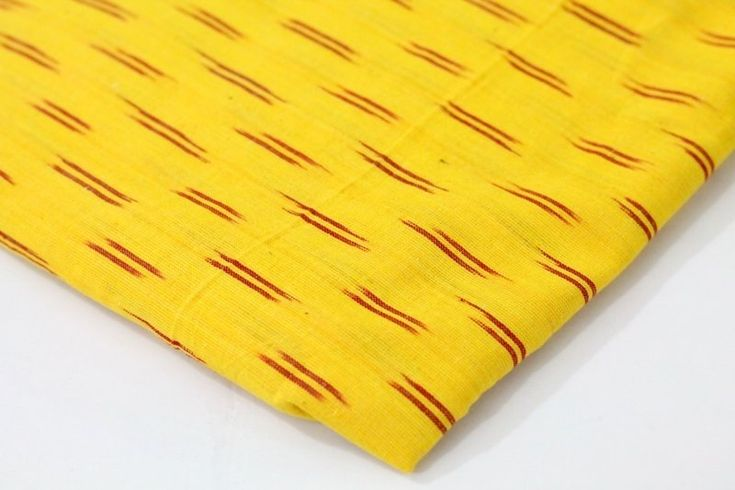 Yellow Ikat Fabric, Hand Woven Ikat cotton fabric ₹150.00 Beautiful geometric design of handwoven ikat in turmeric yellow with red pattern. This medium weight fabric is perfect for any sewing and crafting purpose like dresses , bag,home furnishing,shoe makin... https://shop.chezvies.com/#!/Yellow-Ikat-Fabric-Hand-Woven-Ikat-cotton-fabric/p/95044647