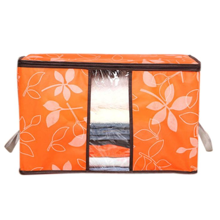Newest 60*40*35cm Foldable  Flower Printed Quilt  Sorting Anti-bacterial Clothing Organizer Bags Storage Bag Box Quality First