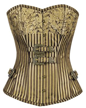 Miss Moneypenny Gold Steampunk  Corset $118.00 AT vintagedancer.com
