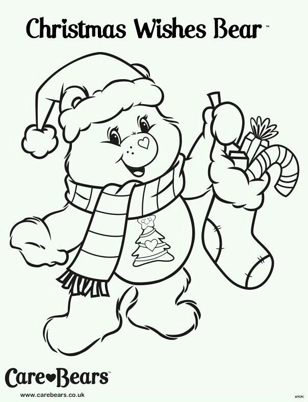 care bear coloring pages christmas - photo#36