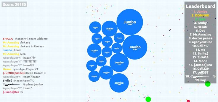Jumbo  Agario Play user game score Screenshot