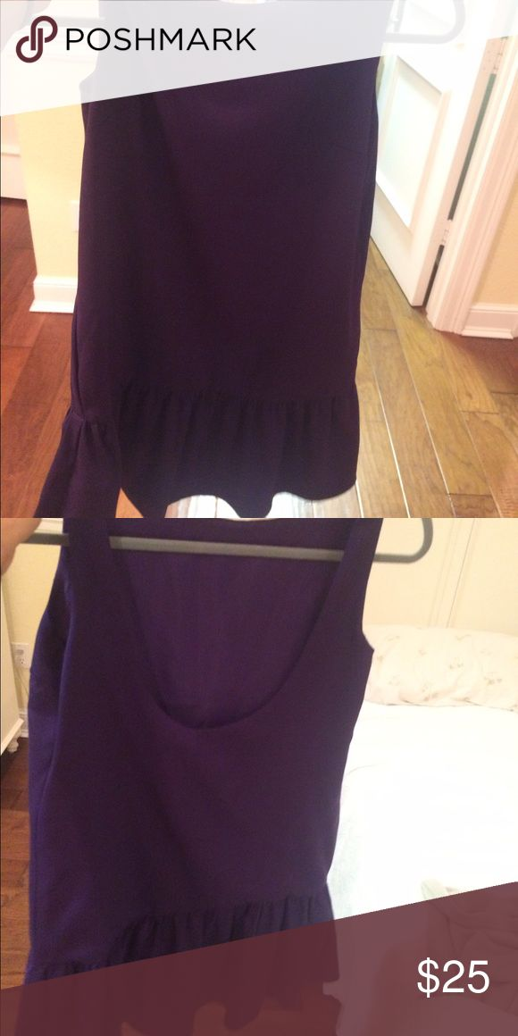 Dark purple going out dress High neck with scoop in the back BCBGeneration Dresses