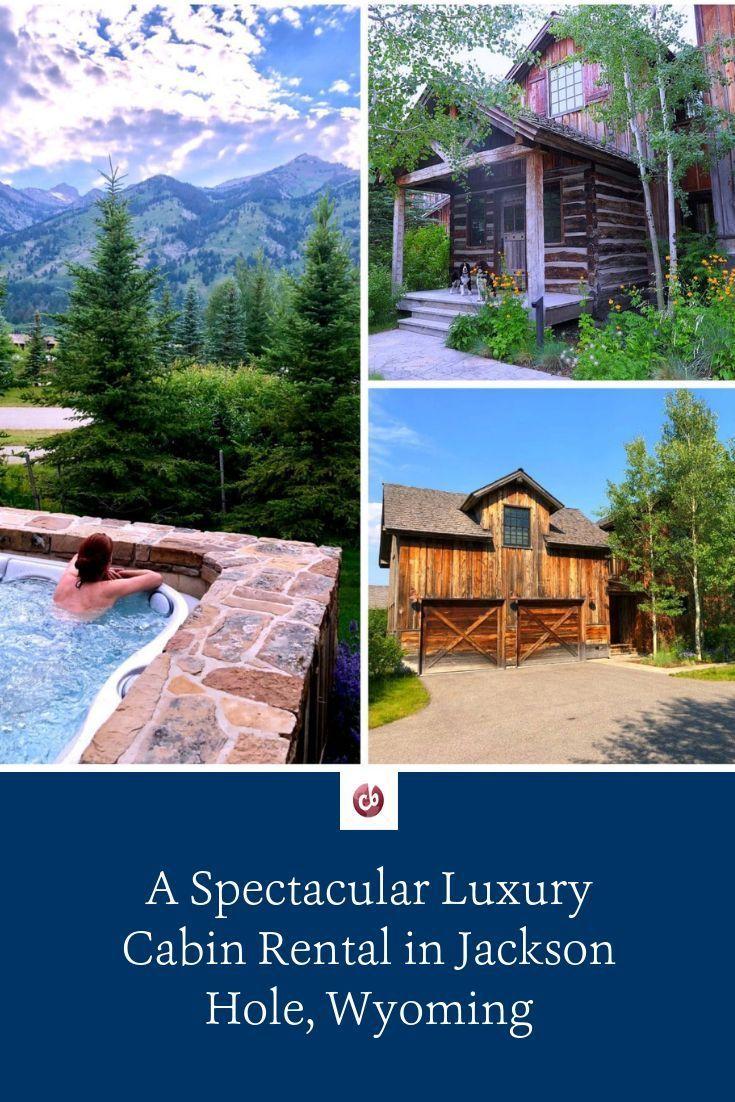 A Spectacular Luxury Cabin Rental In Jackson Hole Wyoming In 2020 Luxury Cabin Rental Jackson Hole Luxury Cabin