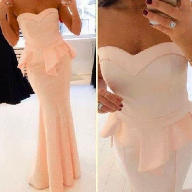 2014 Dress Party Evening Elegant Vestidos De Fiesta Sweetheart Peach Ruffles Maxi Long Prom Dresses Mermaid BO5231 $139.00