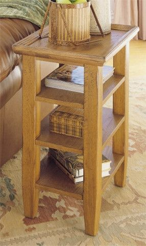 Attic Heirlooms Accessory Table Original Oak By Broyhill