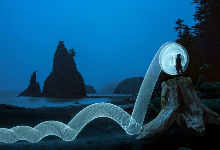 Hula Hoop Light Painting Photography – Fubiz Media