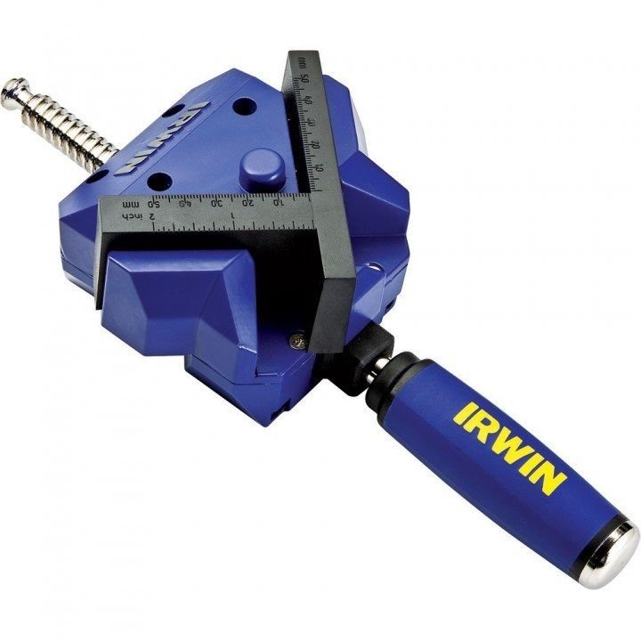 Irwin's 90 degree clamp holds two pieces together at a perfect right angle, making it ideal for complicated assemblies or for any project where squareness is essential.
