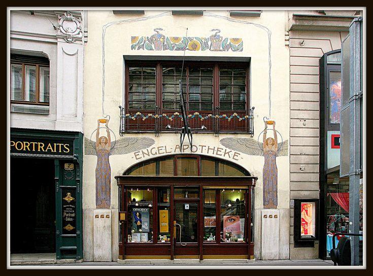 apotheke zum wei en engel 1901 1902 9 bognergasse vienne architecte oskar laske. Black Bedroom Furniture Sets. Home Design Ideas
